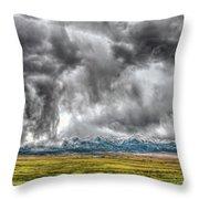 Rocky Mountain Panorama Hdr Throw Pillow