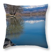 Rocky Mountain Reflections Throw Pillow