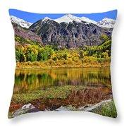 Rocky Mountain Reflections - Telluride - Colorado Throw Pillow