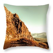 Rocky Mountain Route Throw Pillow