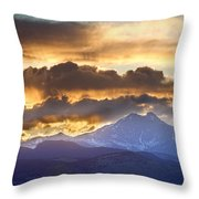 Rocky Mountain Springtime Sunset 3 Throw Pillow