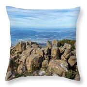 Rocky Mountain Summit Overlooking Beautiful Vally Throw Pillow