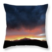 Rocky Mountain Sunset Throw Pillow