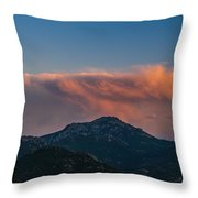 Rocky Mountain Sunset Throw Pillow