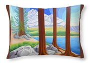 Rocky Mountain View 1 Throw Pillow