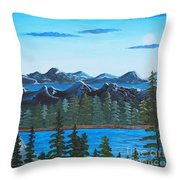 Rocky Mountain View Throw Pillow