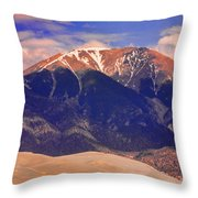 Rocky Mountains And Sand Dunes Throw Pillow