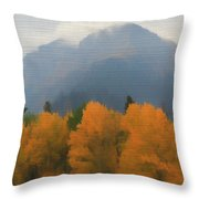 Rocky Mountains Colorado Autumn  Throw Pillow