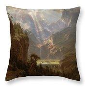 Rocky Mountains, Lander's Peak Throw Pillow