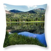 Rocky Mountains Majesty Throw Pillow