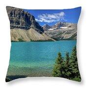 Rocky Mountains Panorama Throw Pillow