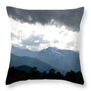 Rocky Mts. Mtn M 201 Throw Pillow