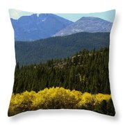 Rocky Mts Mtn M 209 Throw Pillow