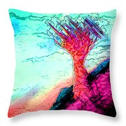 Rocky Outcrop Outline Of Quiver Tree Throw Pillow