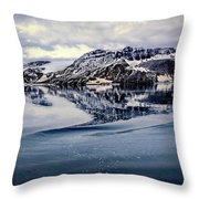 Rocky Outrigger Throw Pillow