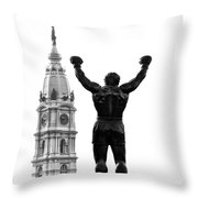 Rocky - Philly's Champ Throw Pillow