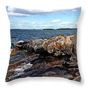 Rocky Point - Wreck Island Throw Pillow
