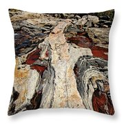 Rocky Pools - Wreck Island Throw Pillow