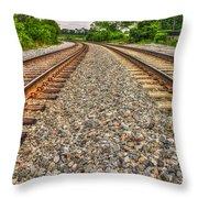 Rocky Railroad Rails Throw Pillow
