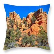 Rocky Range At Red Canyon Throw Pillow