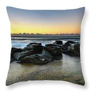 Rocky Seascape Throw Pillow