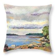 Rocky Shore Throw Pillow