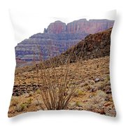 Rocky Slope Grand Canyon Throw Pillow