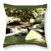 Rocky Stream 5 Throw Pillow