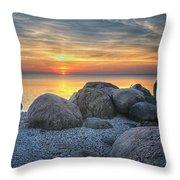 Rocky Sunset Throw Pillow