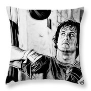Rocky Sylvester Stallone Collection Throw Pillow