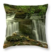 Rocky Twin Falls Throw Pillow