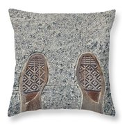 Rocky Was Here Throw Pillow