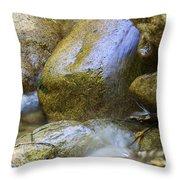 Rocky Water Closeup 2 Throw Pillow