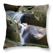 Rocky Water Closeup Throw Pillow