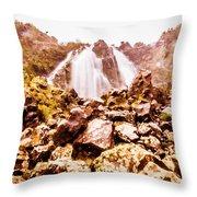 Rocky Water Wilderness Throw Pillow