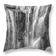 Rocky Waterfall Throw Pillow