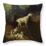 Rocky_mountain_goats Throw Pillow