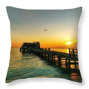 Rod And Reel Pier Sunrise 2 Throw Pillow