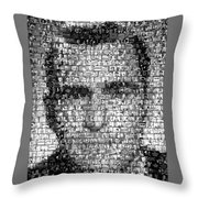 Rod Serling Twilight Zone Mosaic Throw Pillow