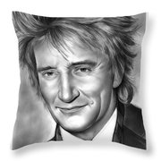 Rod Stewart Throw Pillow