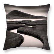 Northton Saltmarsh Throw Pillow