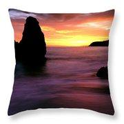 Rodeo Beach At Sunset, Golden Gate Throw Pillow