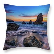 Rodeo Beach Sunset Throw Pillow