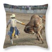 Rodeo Clown Throw Pillow