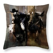 Rodeo Painting Throw Pillow