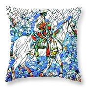 Rodeo Wrangler Mosaic Throw Pillow