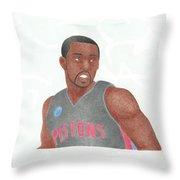 Rodney Stuckey Throw Pillow by Toni Jaso