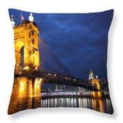 Roebling At Night Throw Pillow