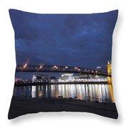 Roebling Bridge Span Throw Pillow