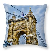 Roebling Suspension Bridge Throw Pillow